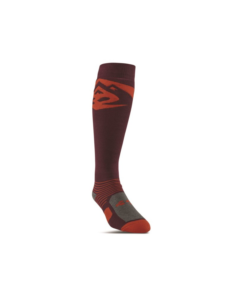 THIRTYTWO CORP GRAPHIC SOCK BURGUNDY