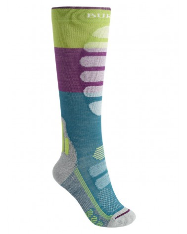 BURTON PERFORMANCE PLUS LIGHTWEIGHT COMPRESSION SOCK GREEN-BLUE SLATE