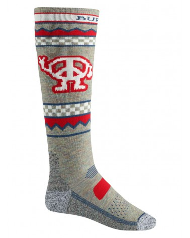 BURTON PERFORMANCE MIDWEIGHT SOCK OATMEAL HEATHER