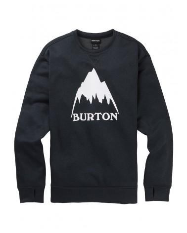 BURTON M OAK CREW TRUE BLACK HEATHER